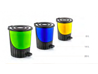 Rainbow pedal dustbin